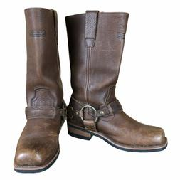 RARE! XELEMENT WOMENS CLASSIC BROWN HARNESS MOTORCYCLE BOOTS