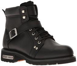 "RIDETECS Men's 6"" Motorcycle Boot, Inside Zipper, Leather,"