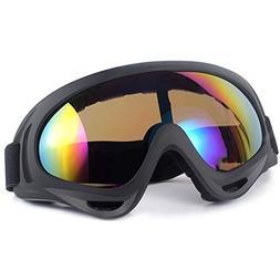 Ski Goggles UV Protection Adjustable Portable Motorcycle Bic