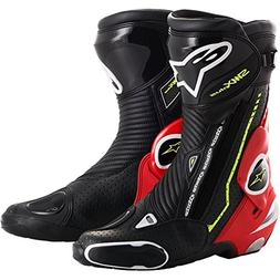 Alpinestars SMX Plus Vented Motorcycle Boots - Black/White/Y