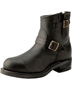 "Chippewa Men's 7"" Steel Toe 27872 Motorcycle Boot,Black,10.5"