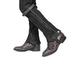 Derby Originals Suede Leather Half Chaps Zipper & Elastic, B