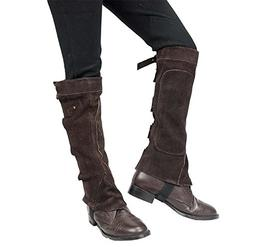 Derby Suede Leather Half Chaps with Velcro Closure for Horse