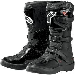 Alpinestars Tech 3S Youth Boys MX Motorcycle Boots - Black /