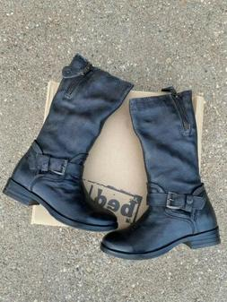 Bed Stu Token Grey Barcelona Leather Boots Size 6 Motorcycle
