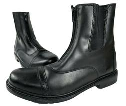 Tuff Rider Motorcycle Boots Womens Sz 9.5 Front Zip Goth Sta