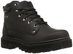 Skechers Men's Pilot Utility Boot,Black,13 M US