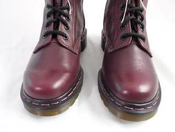 DR MARTENS VB1B99Z RED LEATHER 14 EYE SIDE ZIP MOTORCYCLE CO