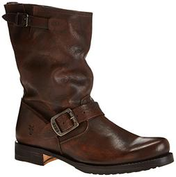 FRYE Women's Veronica Short Boot, Maple Calf Shine, 9 M US