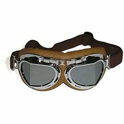 CRG Sports Vintage Aviator Pilot Style Motorcycle Cruiser Sc