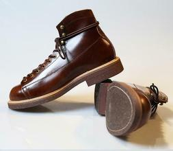 Vintage Men's Women 100% Leather Motorcycle Ankle Boots Shoe