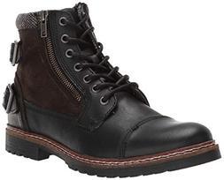 Steve Madden Men's WANTEDD Ankle Boot, Black Leather, 11 M U