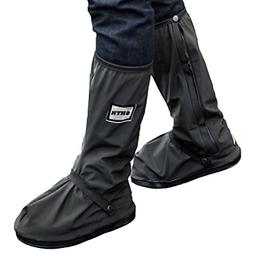 1 Pair XL Waterproof Rain Boot Shoe Cover With Safety Reflec