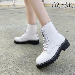 White Martin <font><b>Boots</b></font> Women 2019 Autumn Eng
