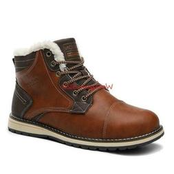 Winter Mens British Style Motorcycle Boots Lace up Casual Ou