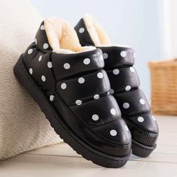 Women Men Snow Boots Fashion Winter Ankle Boots Plush Warm W