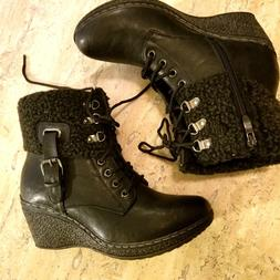 Women's boots shoes 8.5US ladies 8.5 fur Patrizia platforms