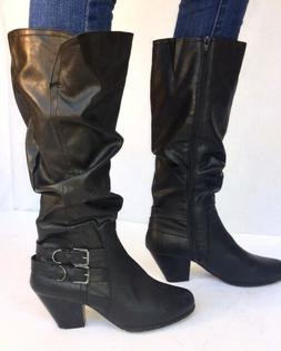 Women's High Heel Mid-Calf Slouch Buckle Riding / Motorcycle