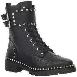 Sam Edelman Women's Jennifer Combat Boot, Black Leather, Siz