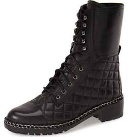 Vince Camuto Women's JOANIE Motorcycle Boot BLACK BUTTER CAL