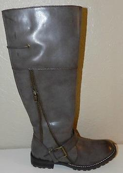 Women's Very Volatile Knee High Taupe Brown Motorcycle Ridin