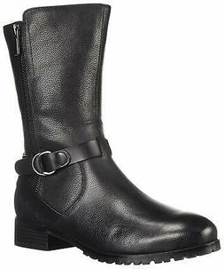 SoftWalk Women's Marlowe Motorcycle Boot, Black, Size 7.0