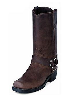 """Durango Women's Motorcycle Harnes 10"""" Leather Brown Boots RD"""