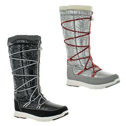 Khombu Women's Slalom Quilted Tall Waterproof Snow Winter Bo