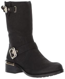 Vince Camuto Women's Windy Leather Side-Zip Motorcycle Boots