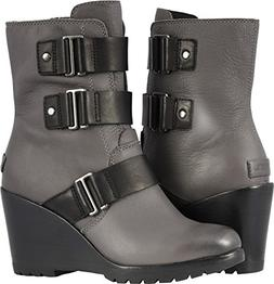 SOREL Womens After Hours Bootie Motorcycle Rain Boot, Quarry