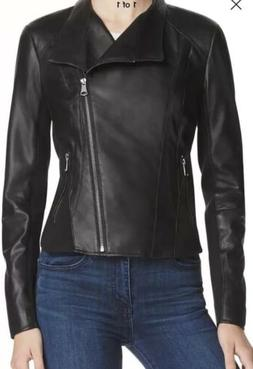 Marc New York by Andrew Marc Womens Black Leather Motorcycle