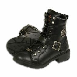 WOMENS MOTORCYCLE BIKER WATERPROOF SHOES BOOTS w/ LACE TO TO