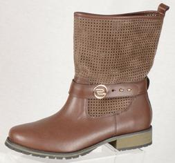 d7e21dadb6c0 Editorial Pick Skechers Womens Motorcycle Boots Size 9M Brown Suede Prefora