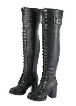 WOMENS MOTORCYCLE KNEE HIGH WATERPROOF BOOTS SHOES w/ MILWAU