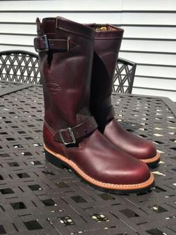 Womens Chippewa Riding Boots Size 6 Motorcycle Cordovan