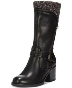 Baretraps Womens Weslin Black Motorcycle Boots Shoes 9.5 Med
