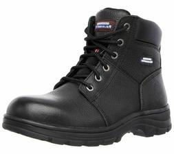 Skechers Motorcycle or Work 77009  Mens  Steel Toe Boots Bla
