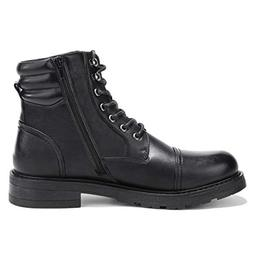 GM GOLAIMAN Men's Work Boots-Lace Up Zip Cap Toe Boot for Mi