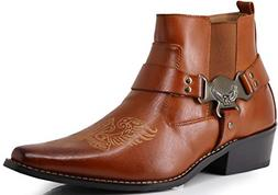 Enzo Romeo WT10 Men's Western Cowboy Motorcycle Ankle Boots
