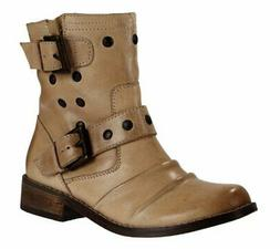 MIA Xenia Women's Motorcycle Ankle Boots, Natural